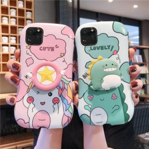 Ốp lưng iphone hoạt hình khủng long, unicorn dễ thương